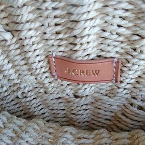 """J. Crew Bags - J. Crew Straw Tote in Pom Pom Crossbody 13""""x13"""""""